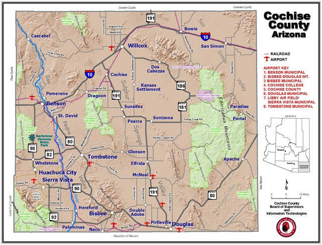 Cochise County Map (Small)